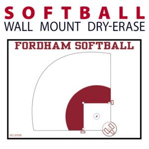 softball field wall mount dry-erase board whiteboard customizable personizable individualizable branding logo team sport size information