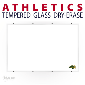 athletics writing note wall mount dry-erase board whiteboard customizable personizable individualizable branding logo team sport size information