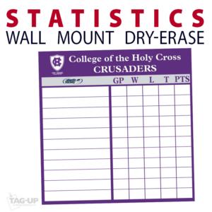 statistics athletics ice hockey line up wall mount dry-erase board whiteboard customizable personizable individualizable branding logo team sport size information