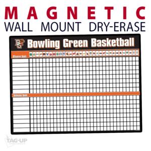 basketball statistics standings goals wall mount dry-erase board whiteboard customizable personizable individualizable branding logo team sport size information