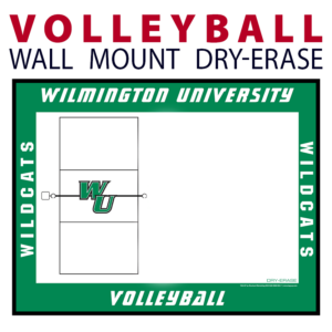 volleyball court wall mount dry-erase board whiteboard customizable personizable individualizable branding logo team sport size information