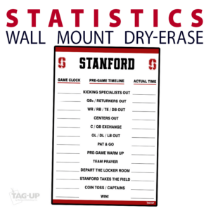 statistics soccer line up wall mount dry-erase board whiteboard customizable personizable individualizable branding logo team sport size information