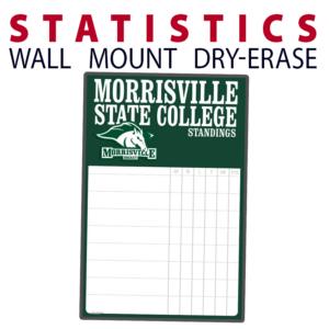 statistics standings wall mount dry-erase board whiteboard customizable personizable individualizable branding logo team sport size information