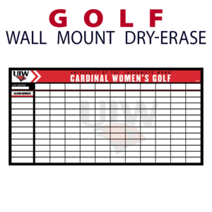 golf standings magnetic wall mount dry-erase board whiteboard customizable personizable individualizable branding logo team sport size