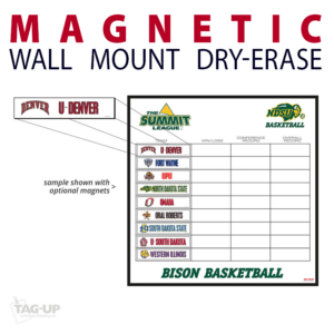 magnetic basketball individual pieces wall mount dry-erase board whiteboard customizable personizable individualizable branding logo team sport size information
