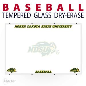 baseball athletics team branding tempered glass wall mount dry-erase board whiteboard customizable personizable individualizable branding logo team sport size information