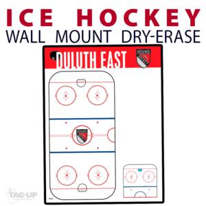 ice hockey rink dry-erase board whiteboard customizable personizable individualizable branding logo team sport size information wall mount