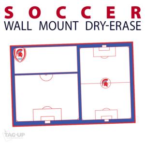 soccer field dry-erase board whiteboard customizable personizable individualizable branding logo team sport size information wall mount