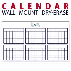 calendar dry-erase board whiteboard customizable personizable individualizable branding logo team sport size information wall mount