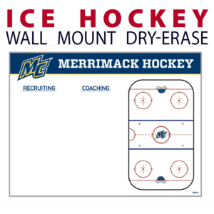 ice hockey rink recruiting coaching dry-erase board whiteboard customizable personizable individualizable branding logo team sport size information wall mount