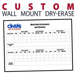 business company wall mount dry-erase board whiteboard customizable personizable individualizable branding logo size information