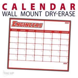 calendar wall mount dry-erase board whiteboard customizable personizable individualizable branding logo size information