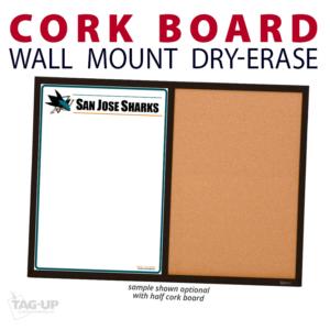 athletics half writing note area cork wall mount dry-erase board whiteboard customizable personizable individualizable branding logo team sport size information