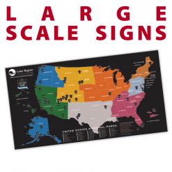 large scale signs poster banners