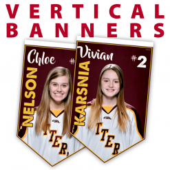 customizable vertical banners