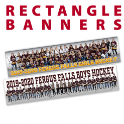 rectangle banners full team customizable size images