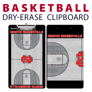 basketball full half court double sided dry-erase clipboard customized personalize team sport colors logo