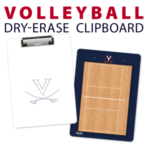 volleyball court double sided dry-erase clipboard customized personalize team sport colors logo
