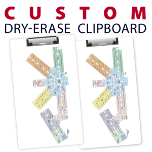 business company event building navigation double sided dry-erase clipboard customized personalize team sport colors logo