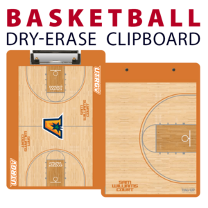 basketball full court half court double sided dry-erase clipboard customized personalize team sport colors logo