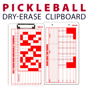 pickleball double sided dry-erase clipboard customized personalize team sport colors logo