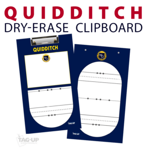 quidditch double sided dry-erase clipboard customized personalize team sport colors logo