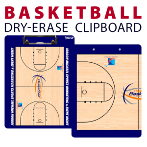 basketball double sided dry-erase clipboard customized personalize team sport colors logo