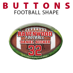 football shape buttons customizable personalization individualized buttons