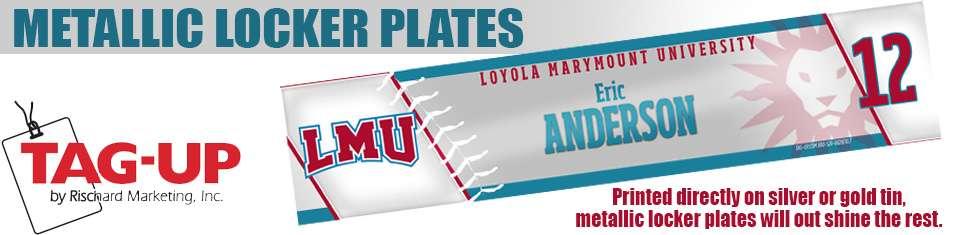 custom metal metallic locker nameplates plates