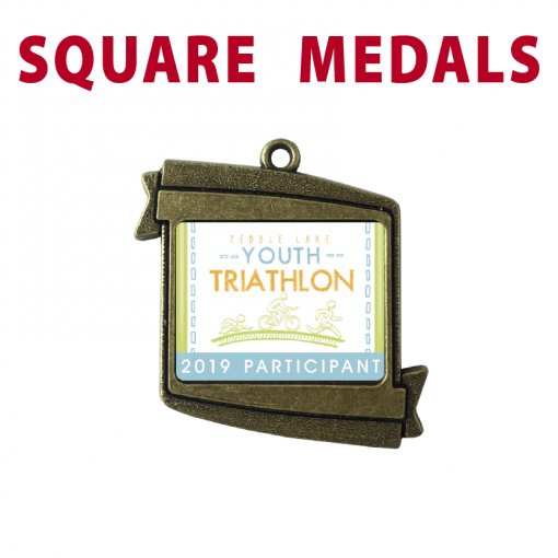 square customizable personizable individualize bronze medal