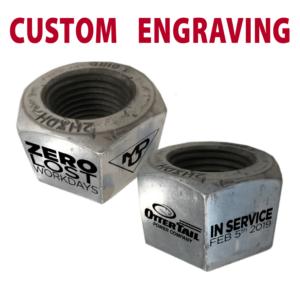 custom engraving metal nuts