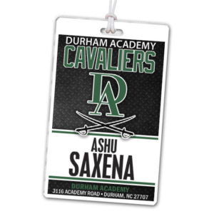 high school athletics sports laminate rectangle sport bag tags luggage badges customized personalized number name