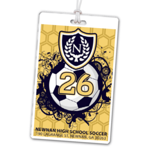 soccer shield vector illustracted high school laminate rectangle sport bag tags luggage badges customized personalized number name