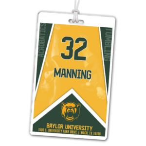 gymnastics acrobatics tumbling team laminate rectangle sport bag tags luggage badges customized personalized number name
