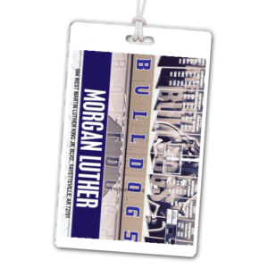 basketball court photo laminate rectangle sport bag tags luggage badges customized personalized number name