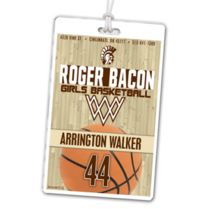 basketball court floor laminate rectangle sport bag tags luggage badges customized personalized number name