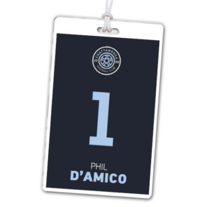 soccer laminate rectangle sport bag tags luggage badges customized personalized number name