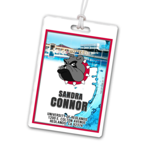 swimming diving pool laminate rectangle sport bag tags luggage badges customized personalized number name