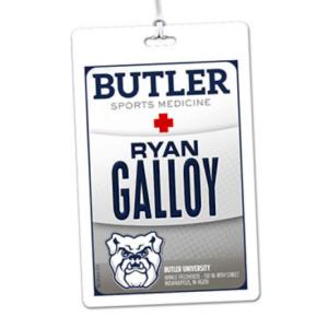 athletics sports medicine laminate rectangle sport bag tags luggage badges customized personalized number name