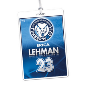 athletics laminate rectangle sport bag tags luggage badges customized personalized number name