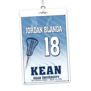 lacrosse stick laminate rectangle sport bag tags luggage badges customized personalized number name
