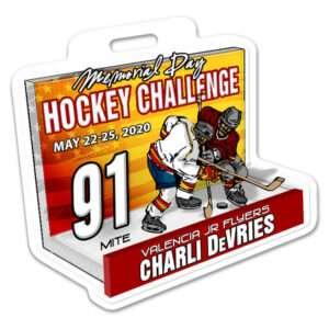 Ice Hockey 3D Players profile bag tag