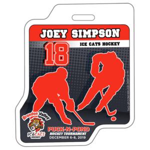 Ice Hockey Sticks Players Profile Bag Tag