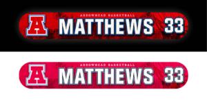 back-lit locker nameplate workout slide in LED light box customizable team color logos personlization individualize name number