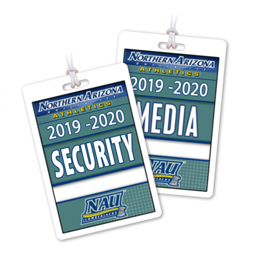 athletic department credentials bag tags luggage badges customized personalized number name title