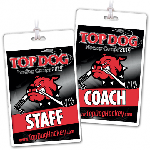 sport ice hockey camp department department credentials bag tags luggage badges customized personalized number name title logo