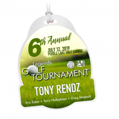 golf tournament department credentials bag tags luggage badges customized personalized number name title city location course date