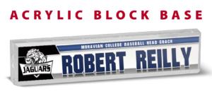 baseball athletics acrylic block base desk office nameplate customizable team color logos personlization individualize name title