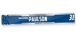 basketball silver metallic metal locker nameplate customizable team color logos personlization individualize name number