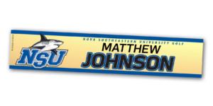 gold metallic metal locker nameplate customizable team color logos personlization individualize name number golf